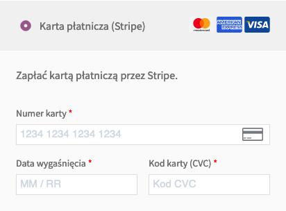 WooCommerce Stripe Formularz karty